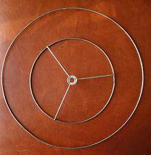 "Set 15"" Bottom 9"" Top Spider Ring Metal Wire Repair Part Cone Lamp Shade"