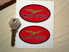 MOTO GUZZI Red Oval Classic Motorcycle STICKERS 75mm Pair for LeMans California