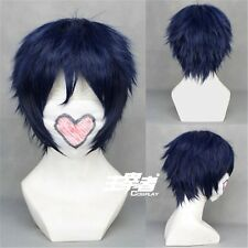 Ao No Blue Exorcist Rin Okumura Anime Cosplay Costume Wig + Free CAP