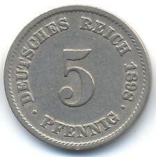 5 Pfennig 1898  A  Allemagne Deutsches Reich Germany  ETAT TTB