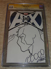 AVENGERS VS X-MEN #1 Sign & Sketch MIKE CHOI Black Panther CGC 9.8 Original art