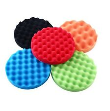 Hot 5Pcs 5inch Waffle Sponge Buff Polishing Pad Kit For Car Polisher-Select Set