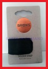 Genuine BROOKS ENGLAND Trouser Strap BLACK Real Leather BTR1 A07202