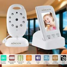 "2.0"" LCD Video Wireless Baby Monitor 2-Way Talk IR Camera Temperature US Z2Z0"