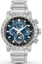 Citizen Eco-Drive World Time A-T Mens Watch AT9070-51L NEW IN BOX
