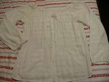 VINTAGE WHITE BLOUSE, SIZE 20, LONG LENGTH, PIRATE STYLE, ORIGINAL 70/80's, FAB!