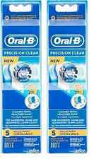 Oral-B Precision Clean Replacement Brush Heads - 5 Brush Heads (2 Pk) + Tweezer