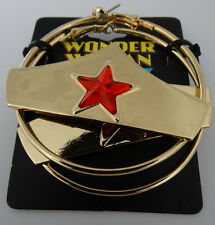 Wonder Woman Logo Dc Comics Hoop Earrings Ear Rings