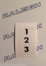RALEIGH CHOPPER MK1 & MK2 GEAR CONSOLE WINDOW 1 2 3 DECAL