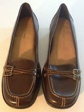 Predictions Womens Brown Loafers Flats Casual Dress Shoes Sz 7.5 Comfy