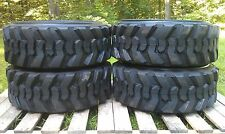 4 NEW 10X16.5 Skid Steer Tires 10-16.5 - 10 PLY- for Bobcat, Case, CAT & others