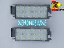 KIT LUZ DE MATRICULA LED PLAFON RENAULT SUPER POTENTES BLANCO PURO