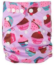 Modern Reusable Washable Baby Cloth Nappy Cloth Diapers  & Insert, Cup Cake