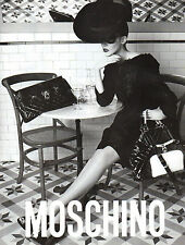 Publicité 2012  MOSCHINO sac à main collection vetement  pret à porter mode