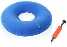 """Dr. Frederick's Original Donut Cushion - 15"""" Inflatable Ring Cushion -  BLUE   S"""