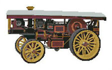 "Showmans Steam Traction Engine Counted Cross Stitch Kit 12.5"" x 7.75"""