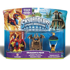 NEW RARE Skylanders Spyro Adventure DRAGON'S PEAK SUNBURN WING BOOTS DRAGONFLY