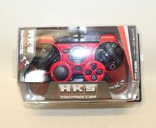 BNIB HKS Metallic Red Handheld Wired Racing Controller For PlayStation 3 PS3