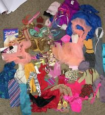 Lot Of Vintage And Modern 80's Barbie Doll  Clothes Some Tagged Accessories