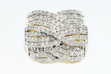 $1,100 1.00CT NATURAL ROUND WHITE DIAMOND CLUSTER SILVER RING SIZE 7.5