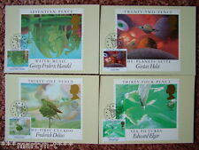 PHQ Cards FDI Front No 83 British Composers 1985. 4 card set Mint Condition