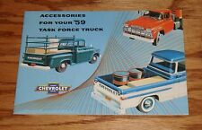 1959 Chevrolet Truck Accessories Sales Brochure 59 Chevy Pickup