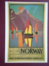 POSTCARD  DGA 163 ORIEN LINE - CRUISES NORWAY 13 DAYS FOR 20 GUINEAS
