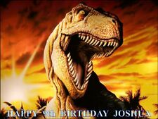 """JURASSIC PARK  PERSONALIZED 10 x 7.5"""" ICING CAKE TOPPER"""