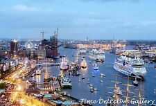 Cruise Ships in the Harbor, Hamburg, Germany - Giclee  Photo Print