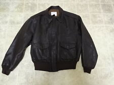 VINTAGE MADE IN USA AVIREX A2 BOMBER FLIGHT LEATHER JACKET 44 GREAT CONDITION