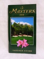 2010 Augusta National Masters Tournament Yardage Guide Phil Mickelson New