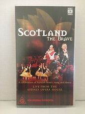 SCOTLAND THE BRAVE ~ LIVE SYDNEY OPERA HOUSE ~ RARE ~ AS NEW VHS VIDEO