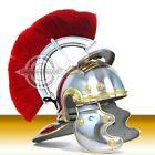 Medieval Roman Centurion Helmet Armor+Red Crest Plume Gladiator Costume SCA GR2