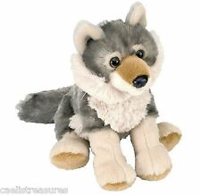 "Wild Republic WOLF 8"" Plush Cuddlekins Gray Timber Sitting Stuffed Animal NEW"
