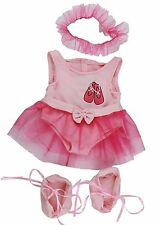 "ROSA BALLERINA CON TUTU Teddy Bear Clothes To Fit 15 ""Build A Bear Peluche Teddy"