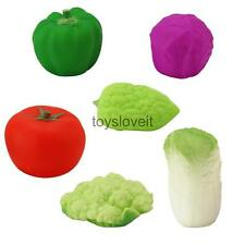 6pcs Rubber Vegetable Bathtime Squeaky Bath Toy Water Play Kids Toddler Toys
