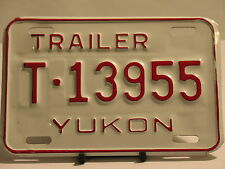 NOS License Plate Trailer Yukon T 13955 New Truck Car Sign Garage Man Cave