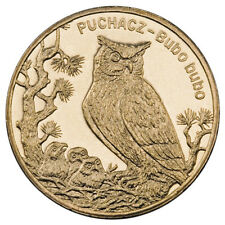 NG COIN of Poland 2005 The Animals of the World Owl ( PUCHACZ ) (BUBO BUBO)