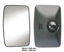Außenspiegel Spiegel Wohnmobil LKW Bus T1 MB 207 245x160mm ø 10-23mm Radial 450