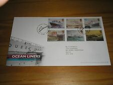 """2004 GB Stamps """" OCEAN LINERS """" First Day Cover TALLENTS HOUSE Cancels FDC"""
