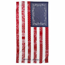 TOMMY HILFIGER BEACH TOWEL AMERICAN FLAG BANDANA USA PATRIOTIC