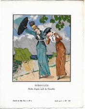 Louis STRIMPL Pochoir Art Déco ORIGINAL N°6 planche VII 1913 GAZETTE DU BON TON
