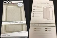 "New Original CASE-MATE Sheer Glam Champagne Clear Case 5.5"" iPhone 7+Plus 6S+ 6+"