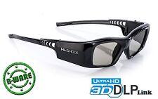 3D-Brille DLP Pro 7G Black Diamond | DLP-Link für Beamer | Hi-SHOCK® | B-Ware