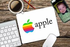 Vintage Apple Rainbow Apple Retro Logo Mac Mouse Pad Mousepad Home Office