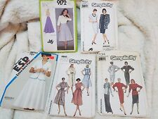 Vintage Simplicity Patterns Lot of 5 Dresses and Skirts