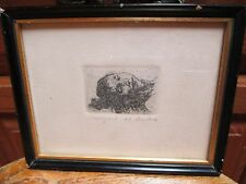 Two Small & Great David A. Bumbeck AP Framed Etchings