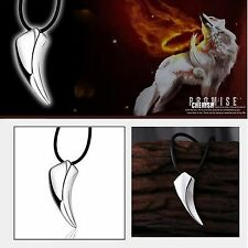 "Mens Stainless Steel 316L Wolf Tooth Pendant 18"" Chain Necklace New UK 210"