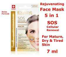 EVELINE Cellular Renewal Rejuvenating Face Mask 5in1 - 24k GOLD & DIAMONDS™, 7ml