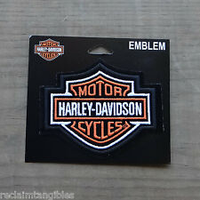 Harley Davidson Authentic Patch - Orange B&S Classic Logo - Medium Emblem Badge